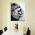 large Abstract modern african animal black and white canvas lion prints art picture lion king painting