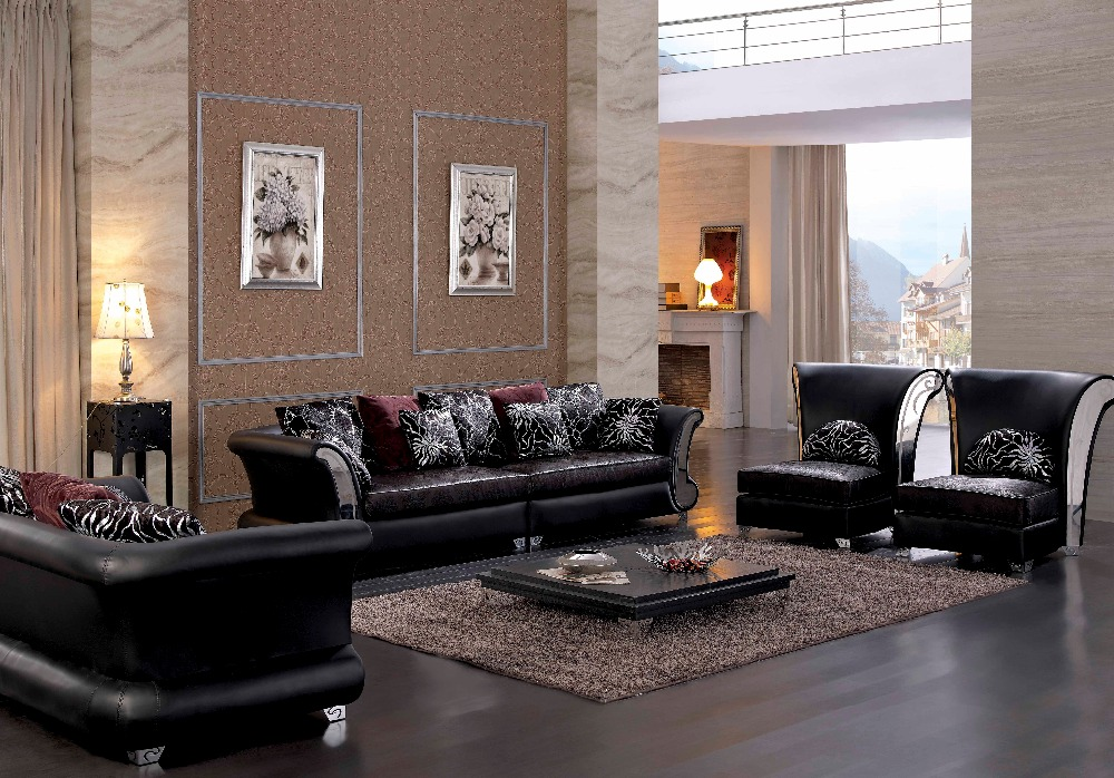 Italian leather sofa set sectional sofa elegant living for Elegant living room furniture