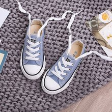 Kids Shoes for Girl Children Canvas Shoes Boys Sneakers 2017 Spring Autumn Girls Shoes White Short Solid Fashion Children Shoes(China)