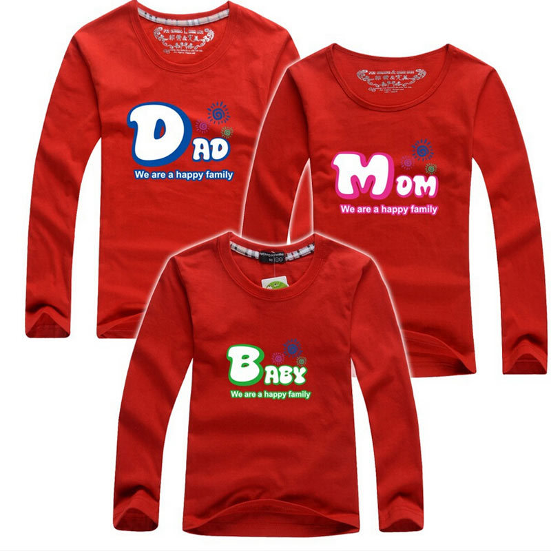 Brand new cute family t shirts cotton father mother and T shirts for dad