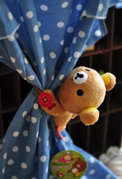 Plush toy 1pc 13cm little doll Rilakkuma bear elephant window curtain buckle stuffed toy creative gift for baby(China (Mainland))