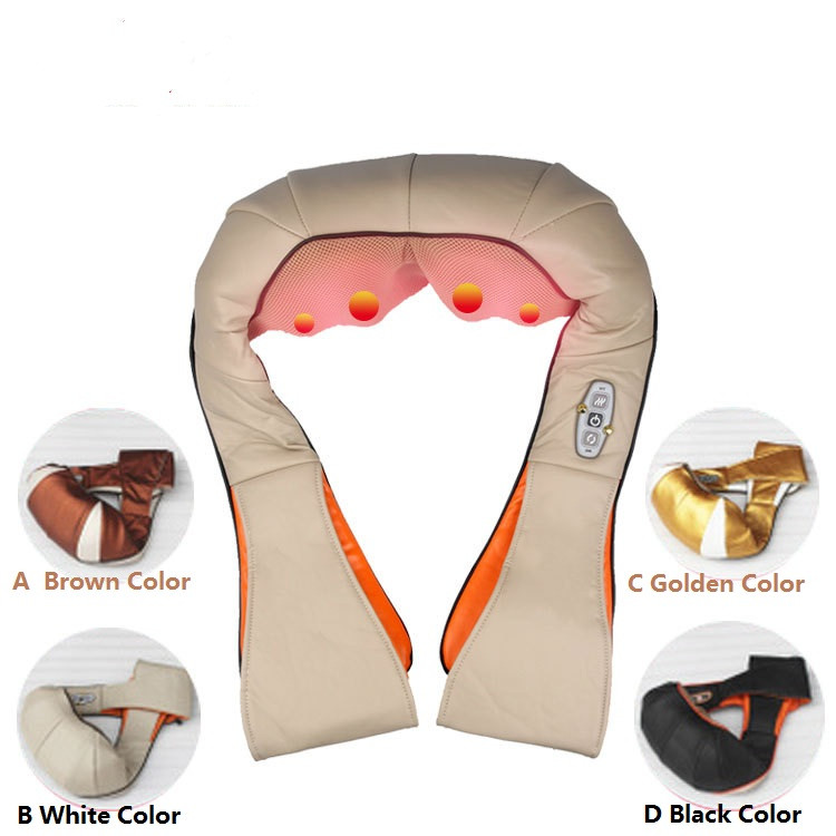 2016 Multifunction health care infrared car home Dual massager acupuncture 3D massager knead pillow DHL Free Shipping