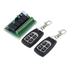 Wholesale 1pcs Wireless 12V 4CH 200M Remote Control Relay Switch Transceiver + Receiver!(China (Mainland))