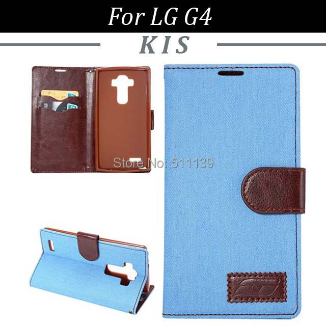3 Mix Color LG G4 Wallet Magnetic Stand Jeans Leather Case 2 Card Slots, - Kis Technology Co.,Ltd store