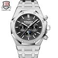 BINKADA TOP luxury brand business Royal Style Mechanical Watches Men Steel Band Waterproof Automatic Watch Self