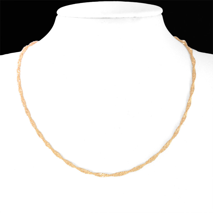 Cute Kids Necklace Gold Chain Collar Baby Jewelry Collier Bebe Collares Bebek Kolye Colar Collana Bambino Colier Kettingen 6BN02(China (Mainland))
