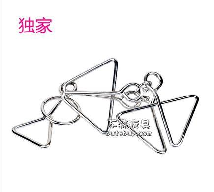 JiuLianHuan Whlesale IQ Test Brain Teaser Nine chain Metal Wire Puzzles Reliever Stress Toy(China (Mainland))