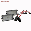 2pcs White LED 12V 3528SMD Car Light Number License Plate Lights Bulb For Megane II Kombi
