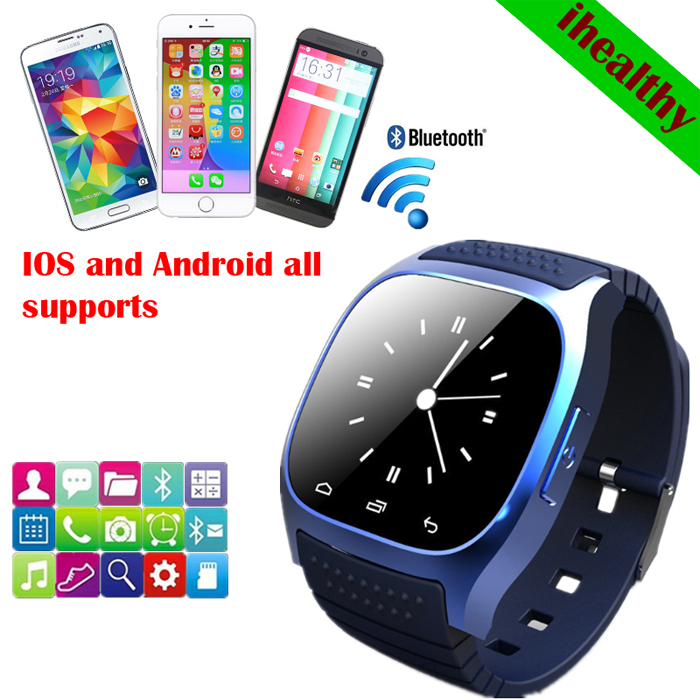 2015 sport Bluetooth Smart Watch luxury wristwatch M26 smartwatch Dial SMS Remind Pedometer IOS Android Samsung phone - HiDeer Tech Co., Ltd Store store