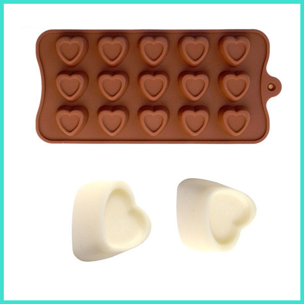 Love Shape Cake Decoration : Love shape chocolate mould fondant cake decorating tools ...