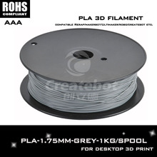 Grey color 1.75mm 3d pen pla 1.75mm filament Compatible with 3d printer filament such asCreatebot ,Makerbot, RepRap,et