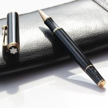 2015 новые монте марка черный с золотом клип MB ролик ручка для написания бесплатная доставка
