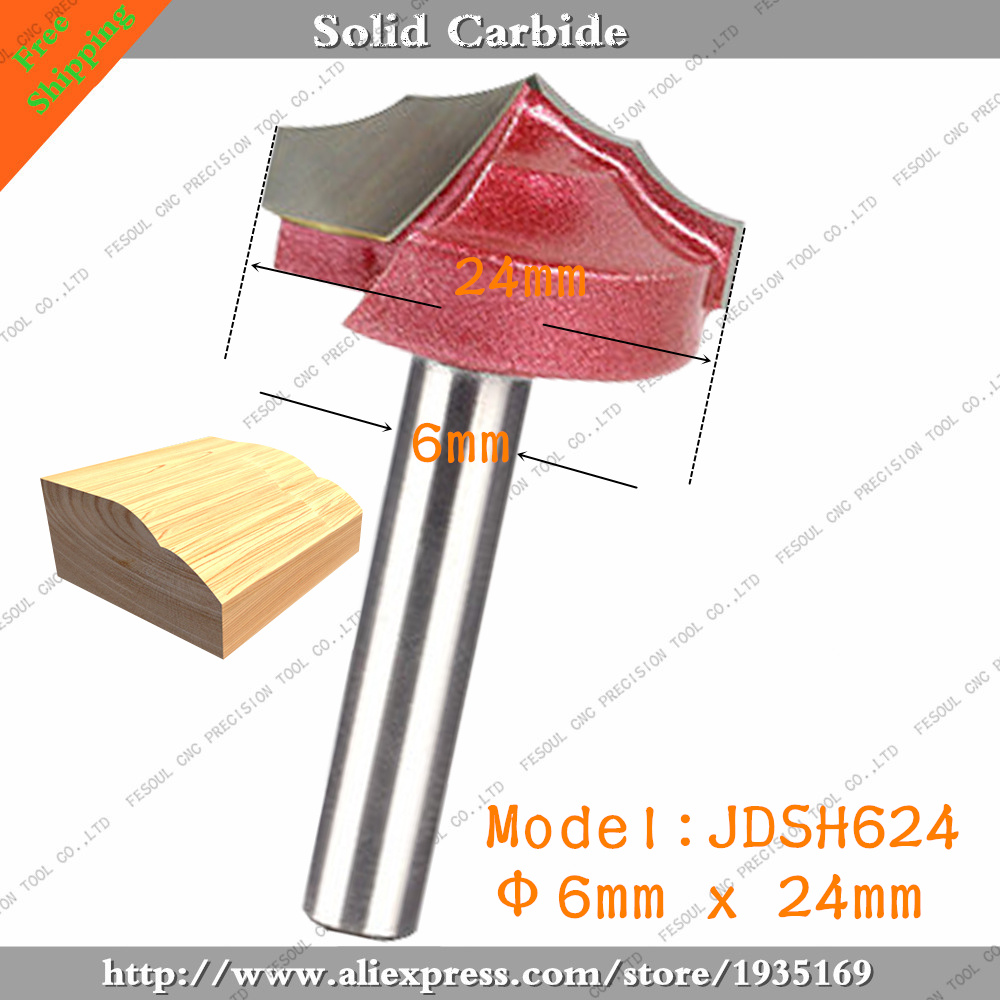 6mm*24mm,10pcs,Free shipping CNC Engraving 3D Woodworking Milling Cutter,Tungsten Solid carbide End Mill,Wood Tools,Router Bit(China (Mainland))