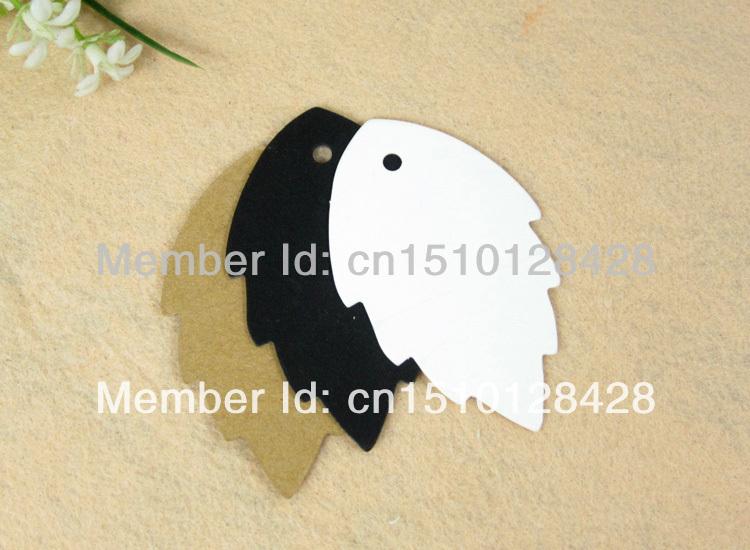 DIY tag brown paper kraft label fish shaped - LAN Gift Packaging & Printing store