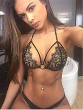Bikini 2016 Women Black Lace Sexy Crochet Beach Swimwear Maillot De Bain Summer Ladies Tops Brazilian Bathing Suit Brand (China (Mainland))