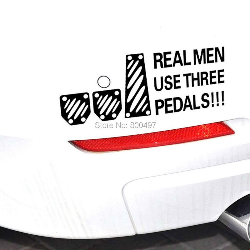 Creative Design Car Styling Creative Real Man Use 3 Pedals Car Body Stickers Car Decal for VW Honda Fiat Skada Peugeot Lada Kia(China (Mainland))