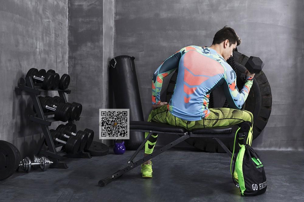 Vansydical Geometric Skinny Sport Yogo Fight Shorts for Men (9)