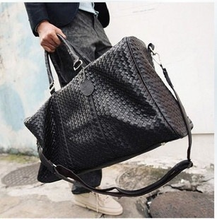 New 2015 fashion women and men travel bags pu plaid suitcase sport duffle bag Shoulder diagonal drums fitness dance yoga bag(China (Mainland))