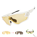 2017 NEW Yellow Photochromic Men Women Cycling Sunglasses Sports Eyewear Bicycle Goggles MTB Bike Racing Glasses