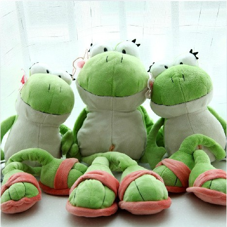 Cute 50cm Frog Soft Toys Stuffed Animals Plush Toys Doll Gift for Kids Birthday Gift 1pc Free Shipping(China (Mainland))