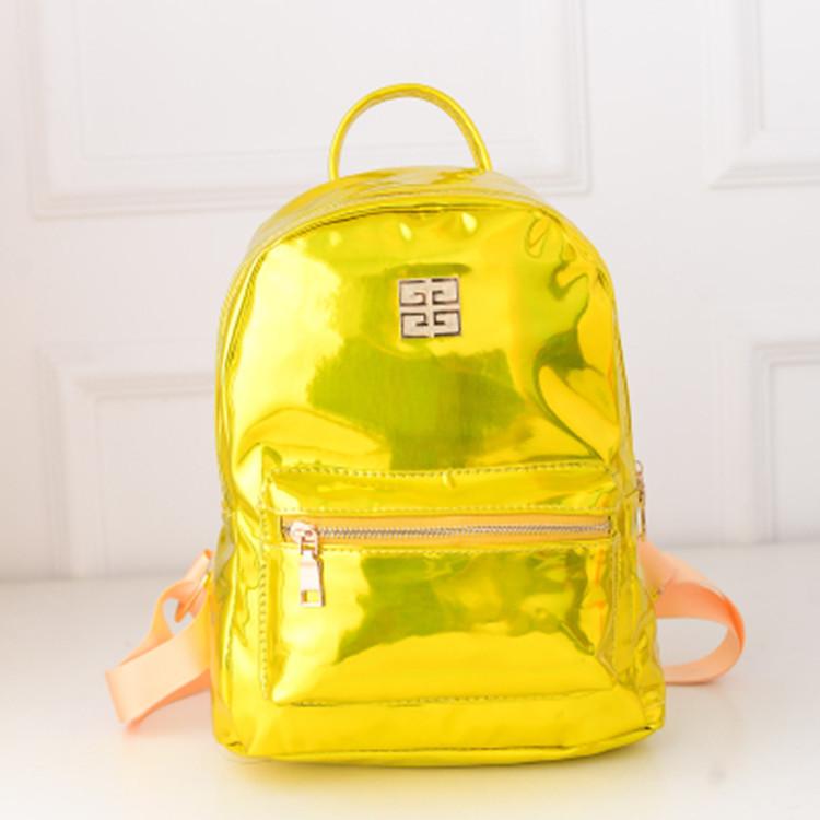 Гершель рюкзак женский лазерная сумка mochila feminina корейских мода PU высокого школьные сумки для студентов досуга дорожные сумки