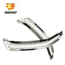 Guiding light style LED Car DRL daytime running lights with dimmer function for Toyota SUBARU forester 2013 2014, chrome plating(China (Mainland))