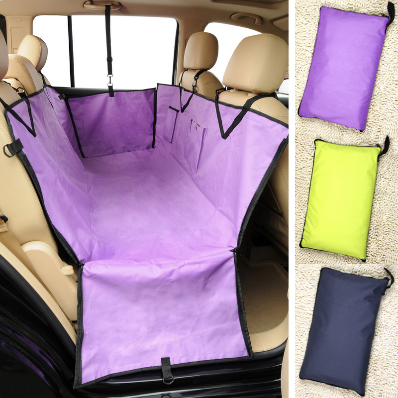 Pet Puppy Dog Cat Car Back Seat Travel Cover Waterproof Hammock Grey Yellow Purple products animals - Boutique store