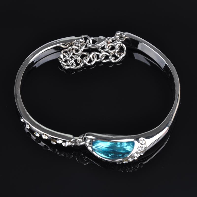 Women Fashion Korean Jewelry Alloy Rhinestone Faux Crystal Water Drop Bracelets J*60CSS0037 - Sala's Store store