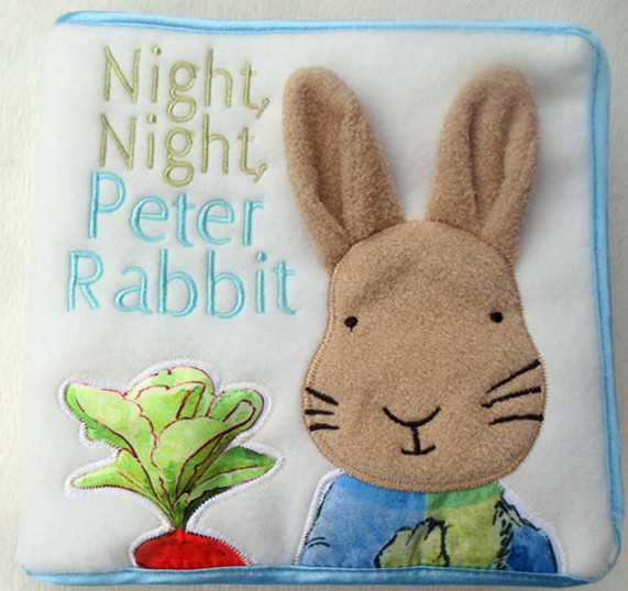 2017 Cute Baby Cloth Book Night Peter Rabbit Educational Toys Sale - Dongguan Babytree Garment Co.,Ltd Store store