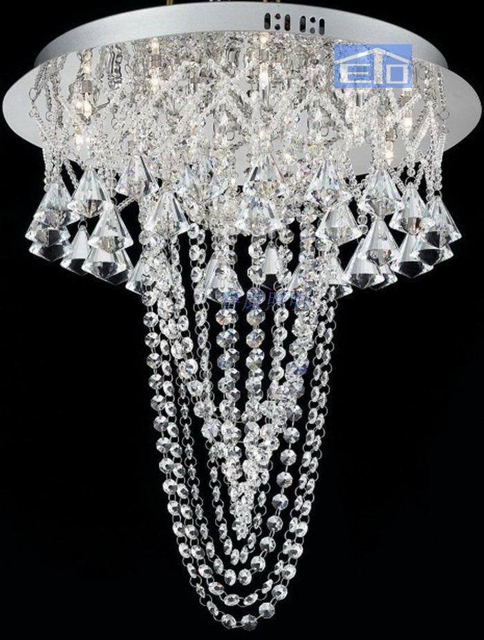 K9 crystal lamp bead curtain diamond living room crystal lamp restaurant lamp net fancy crystal pendant lamp customize(China (Mainland))