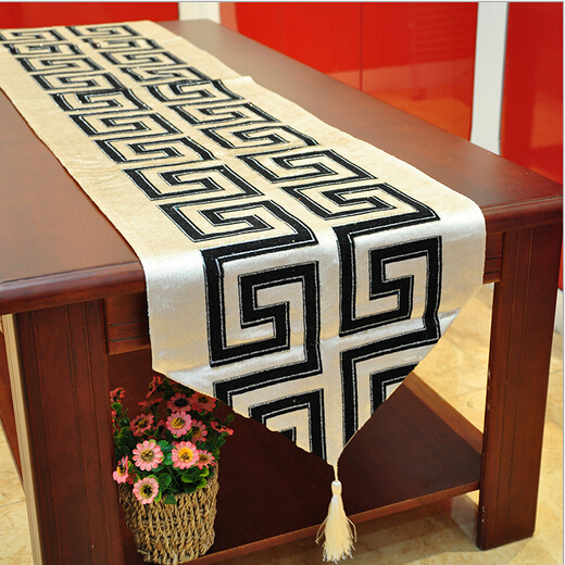 classical chinese style wedding decoration modern table runner cotton chemin de table for. Black Bedroom Furniture Sets. Home Design Ideas