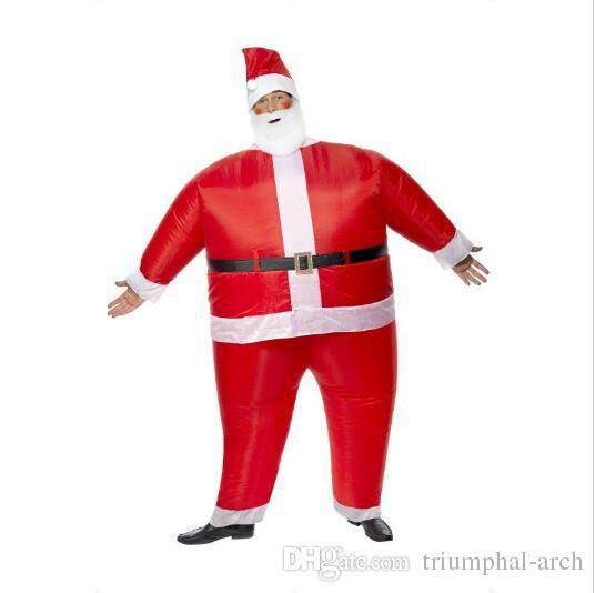 2015 Special Christmas creative Mascot costumes Adult inflatable Santa Claus walking performance clothing free(China (Mainland))