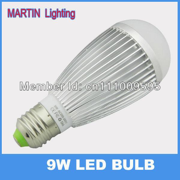 Free shipping  9W E27 led globe light bulb Warm smd5730 Bubble ball bulb lamp