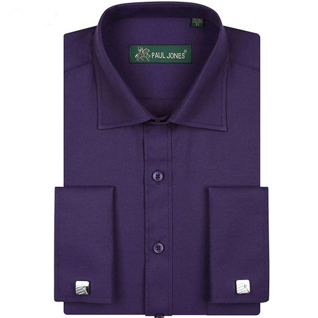 Формальные мужская мода рубашка бизнес французский манжет модной хлопка мужчины социальной ...