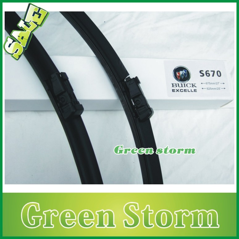 (2pcs/Pair) car wiper blades Buick Excelle soft silicone Rubber WindShield Wiper Blade Arm - Green Storm Automobile Products co., LTD store
