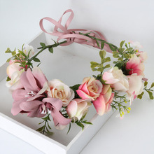 Handmade Rose Flower Wreath Crown