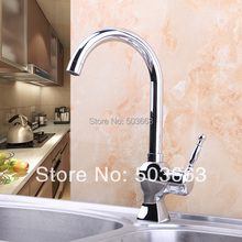 Buy Best Design Swivel Polished Chrome Brass Bibcock Kitchen Faucet Spout Vessel Sink Single Handle Deck Mounted Mixer Tap MF-395 for $46.62 in AliExpress store