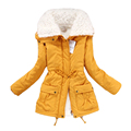 2016 Winter coat ladies wadded long wadded jacket thick hooded cotton jacket warm cotton parka slim