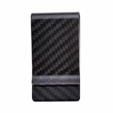 Free Shipping 2016 Promotion Real Carbon Fiber Money Clip Glossy - Genuine 3K Twill- Credit Card Business Wallet(China (Mainland))