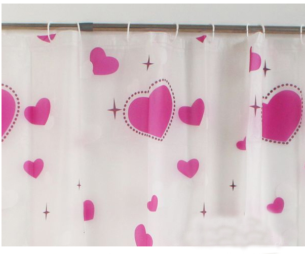 buy red hearts peva shower curtain waterproof curtains for bathroom elegant eco friendly bath window curtains plastic hooks new from. Plastic Bathroom Curtains  Shower Curtains Size 180180cm Material