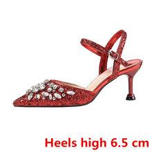 Стразы на каблуке; Обувь на День Святого Валентина; Свадебные туфли на каблуке со стразами; Обувь для невесты на высоком каблуке; Модельные т...(China)