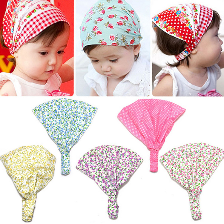 New Arrival Baby Girl Kid Newborn Flower Headband Hair Wear Accessories Headscarf Bandana Hat 5 Colors Drop shipping(China (Mainland))