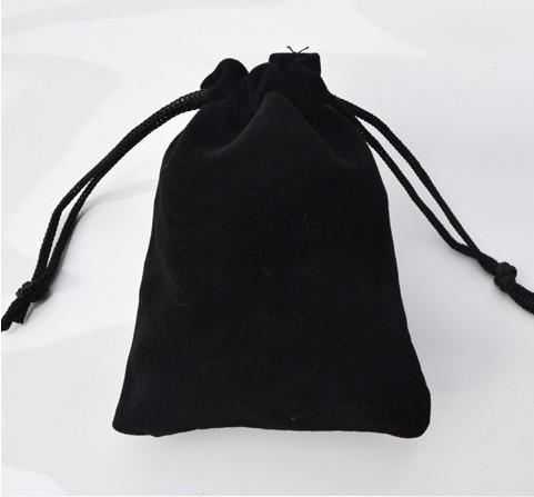 B007 Free shipping 7*9cm high-grade black velvet bag jewelry bags / jewelry box wholesale(China (Mainland))