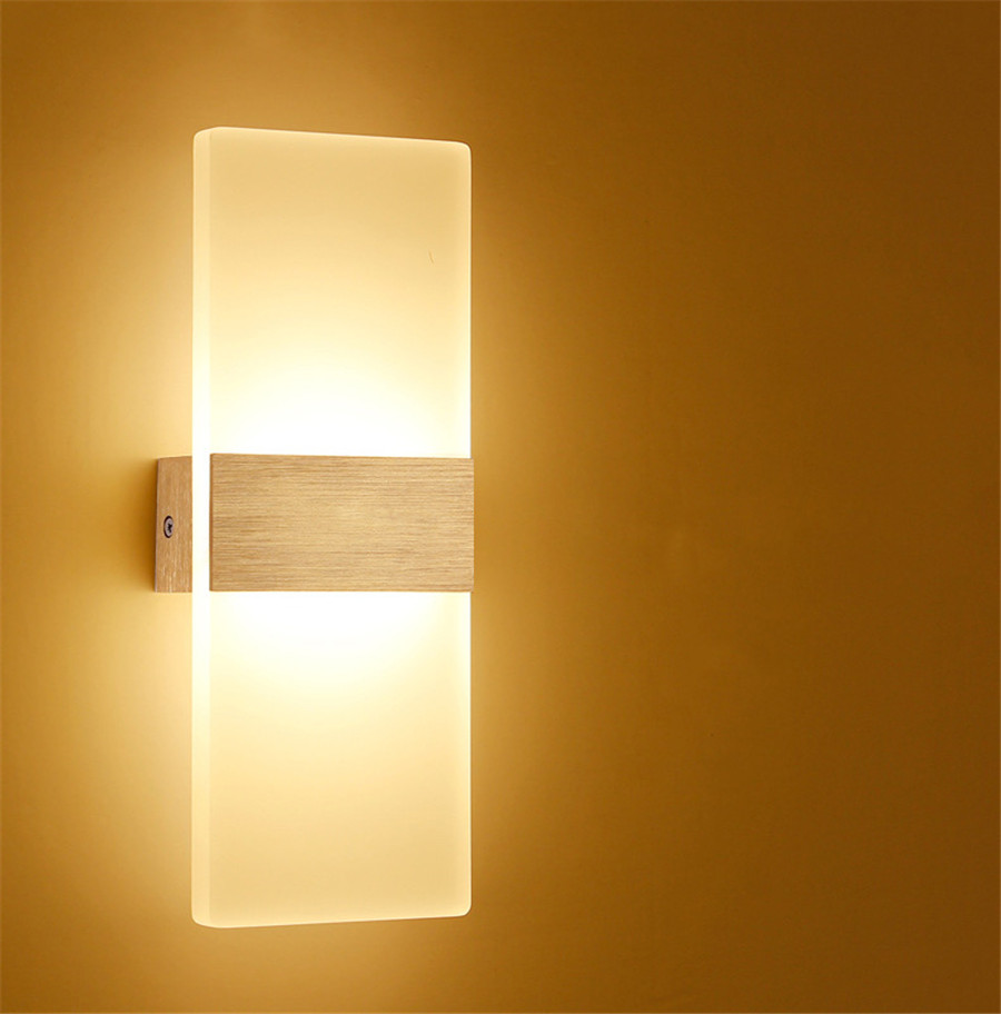 6w 12w modern led wall lamps acrylic bed room wall light Contemporary wall sconces for living room