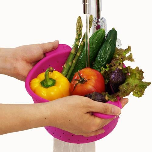 Здесь можно купить  2pcs/s silcone Multi-function Foldable Fruit Basket Storage Skepet 2 colors for choose  Дом и Сад
