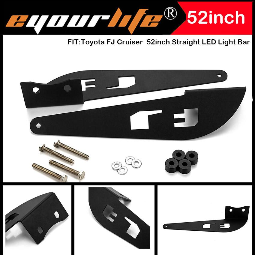 Eyourlife Toyota FJ Cruiser 52inch Straight LED Light Bar Roof Top Mounting Bracket