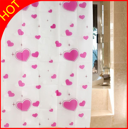red hearts peva shower curtain waterproof curtains for bathroom elegant eco friendly bath window curtains plastic. Plastic Bathroom Curtains  Shower Curtains Size 180180cm Material