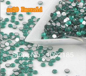 SS20 5mm 10000pcs/pack Flat back Acrylic Rhinestones Emerald Color Nail Art - Rhinestone houses store