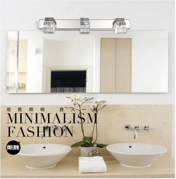 crystal 3*3w Waterproof IP65 Modern Wall light indoor lighting LED bathroom mirror light wall ...