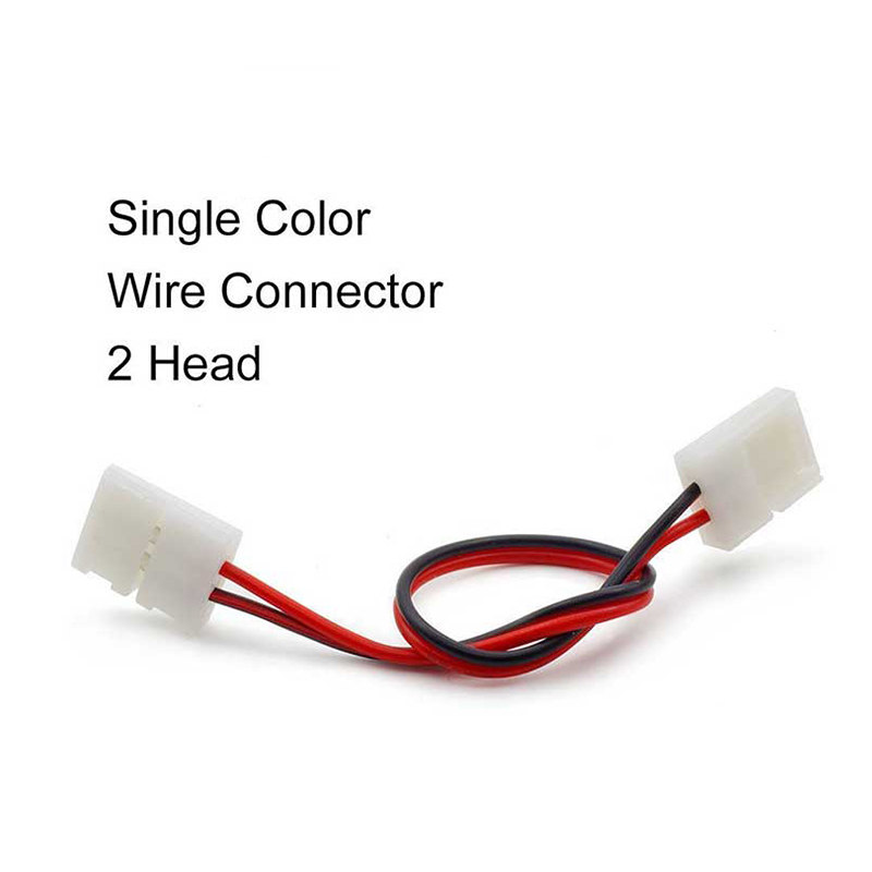 1pcs 10mm 2pin Single Color solderless PCB to PCB Connector cable wire Adapter For 5630 5050 5730 LED Strip light